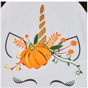 Unicorn Pumpkin Ruffle Shirt